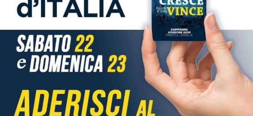 FDI- TORNA ALL'AQUILA PER RACCOLTA FIRME E TESSERAMENTO