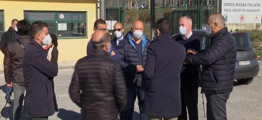 OSPEDALE DA CAMPO ALL'INTERPORTO DI AVEZZANO