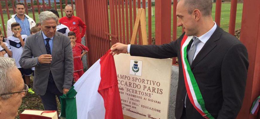 Celano, intitolato a Paris il nuovo campo da calcio