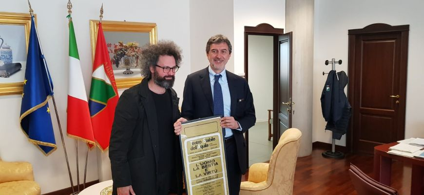 SIMONE CRISTICCHI INCONTRA PRESIDENTE MARSILIO