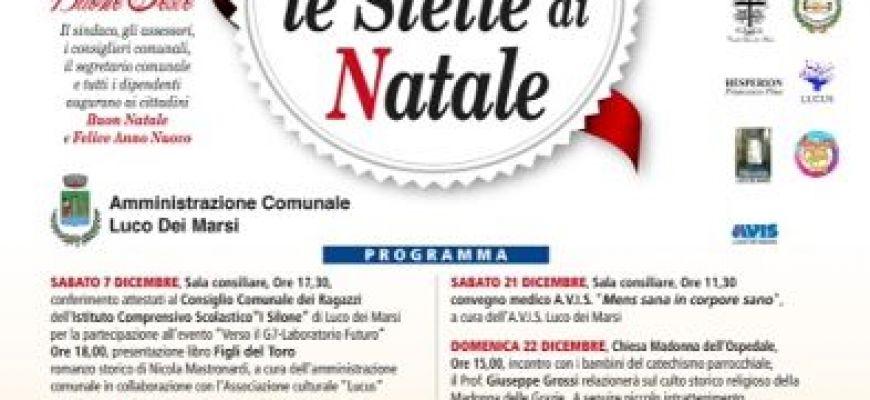 LE STELLE DI NATALE ACCENDONO LE FESTE A LUCO DEI MARSI
