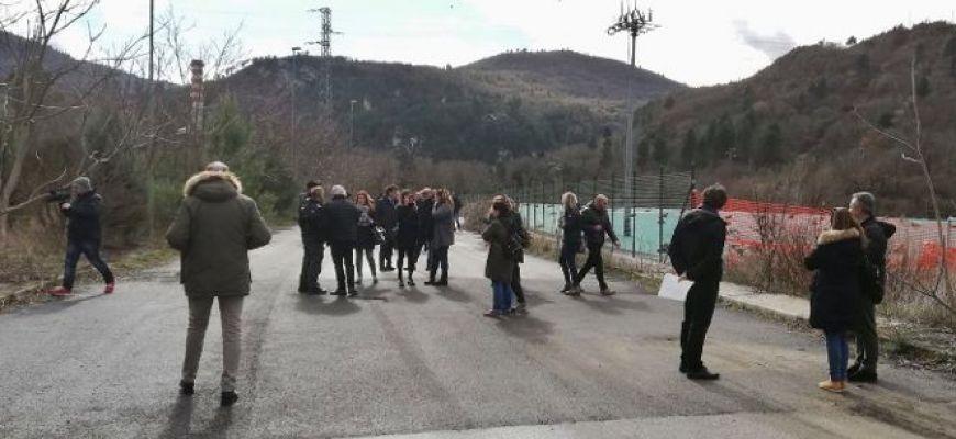 BUSSI-SOPRALLUOGO DELLA COMMISSIONE D'INCHIESTA