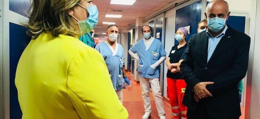 Angelosante e l'Assessore Verì visitano il Pronto soccorso di Avezzano