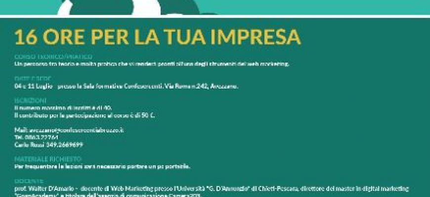 CONFERSERCENTI-CORSO WEB MARKETING AD AVEZZANO