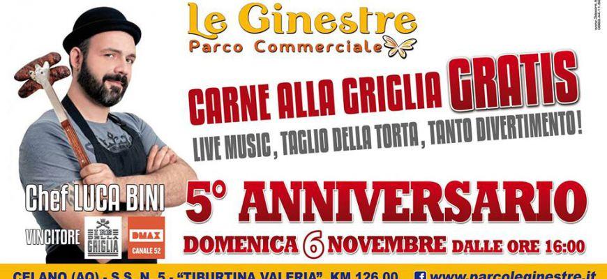 Il Parco Le Ginestre compie 5 anni. Domenica arriva lo chef Luca Bini
