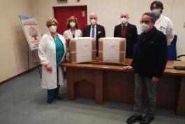TUTE DI PROTEZIONE DONATE ALL'OSPEDALE DI AVEZZANO DAL ROTARY