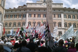 Forestali marsicani a Roma contro la riforma del Corpo
