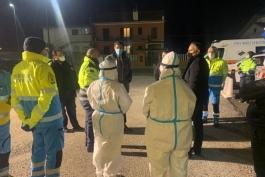 MARSILIO VISITA I PUNTI SCREENING DELL'AQUILANO