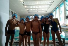 I nuotatori marsicani al Foro Italico per l'evento I love mini pallanuoto
