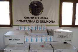 LA FINANZA DI SULMONA SEQUESTRA 30.000 MASCHERINE