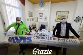 L' AVIS  comunale di Pescina dona 1000 mascherine.