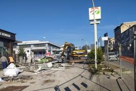 Distributore di via Roma, al via la demolizione.