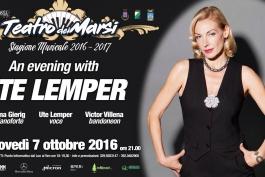Ute Lemper inaugura la decima stagione del Teatro dei Marsi