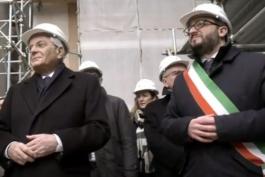 SINDACO BIONDI CONSEGNA APPELLO PER RICOSTRUZIONE A MATTARELLA