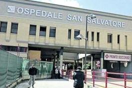 IL MANAGER ASL TESTA VISITA OSPEDALE DI L'AQUILA