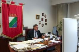 POST SISMA 2009-MARSILIO IN VIDEOCONFERENZA CON CONTE