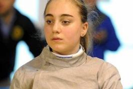 Sofia Santucci, unica sciabolatrice abruzzese al Trofeo Coni