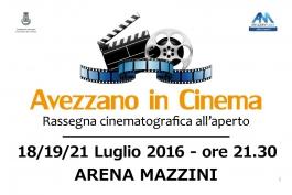 Avezzano in Cinema: pellicole d'oro e un regista abruzzese per tre serate di film all'aperto
