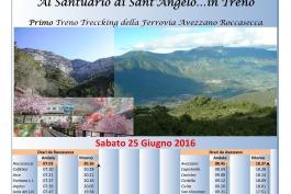 Primio treno trekking Ferrovia Avezzano Roccasecca